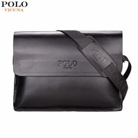 VICUNA POLO Leather Men Bag Business Casual Messenger Bag High Quality Men S Brand Black Brown