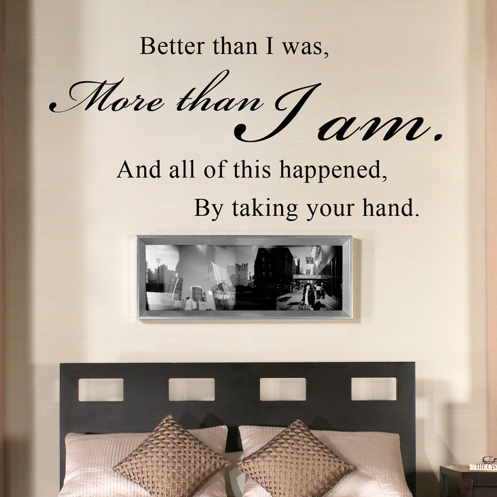 All of this happened by taking your hand romantic couples for Bedroom wall designs for couples
