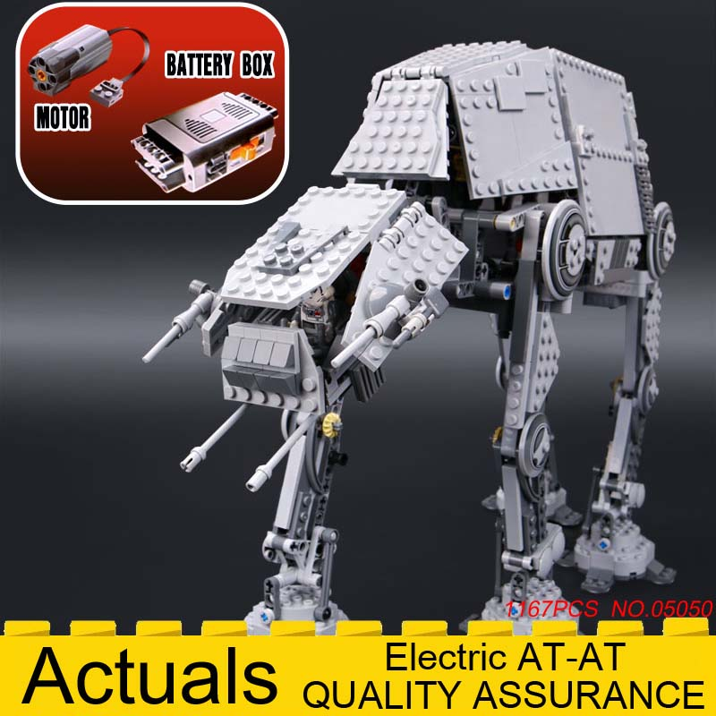 NEW Lepin 05050 Star Series AT the AT Robot Electric Remote Control Building Blocks Toys Gift Compatible with wars 10178 1167pcs [jkela]499pcs new star wars at dp building blocks toys gift rebels animated tv series compatible with legoingly starwars page 1