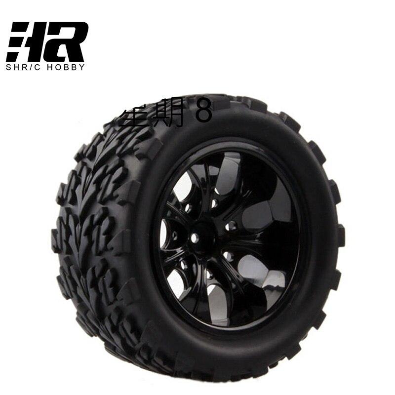 4 pcs RC voiture 1/10 HSP 12mm racing wheel jante pneus diamètre 115mm largeur 55mm Approprié pour 1/10 HSP 94111 94188 94108 HPI