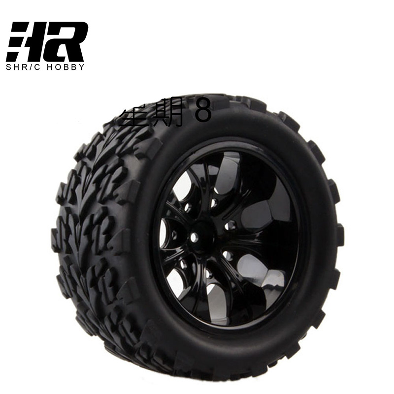 4 pcs voiture RC 1/10 HSP 12mm course jante pneus diamètre 115mm largeur 55mm Adapté pour 1/10 HSP 94111 94188 94108 HPI