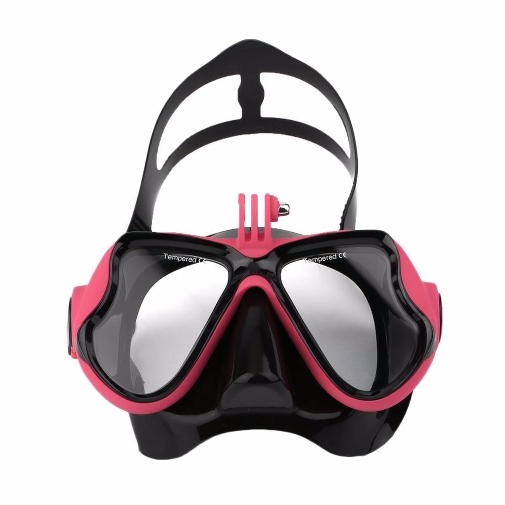 Professional Waterproof Underwater Diving Camera Mask Dive Face Scuba Snorkel Swimming Goggles for GoPro Xiaomi SJCAM Sports