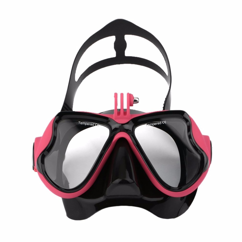 Professional Waterproof Underwater Diving Camera Mask Dive Face Scuba Snorkel Swimming Goggles for GoPro Xiaomi SJCAM Sports