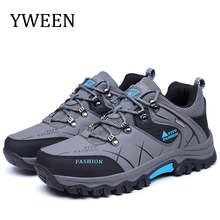 YWEEN New Grey Men Casual Shoes Lace Up Sneakers Breathable Outdoor shoes