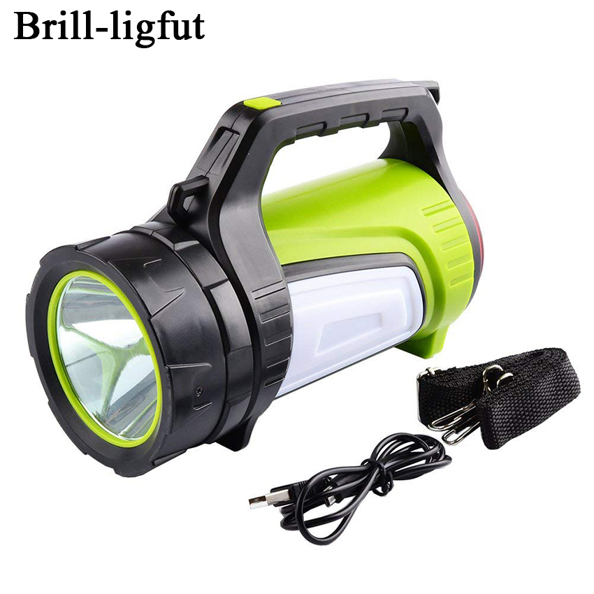 Super Bright LED Searchlight Spotlight Rechargeable Flashlight Torch Work Light