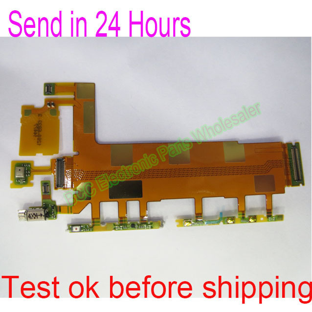 Original For Sony Xperia Z3 D6653 D6603 D6616 D6643 vibrator microphone Power volume keypad main Flex Cable with tracking