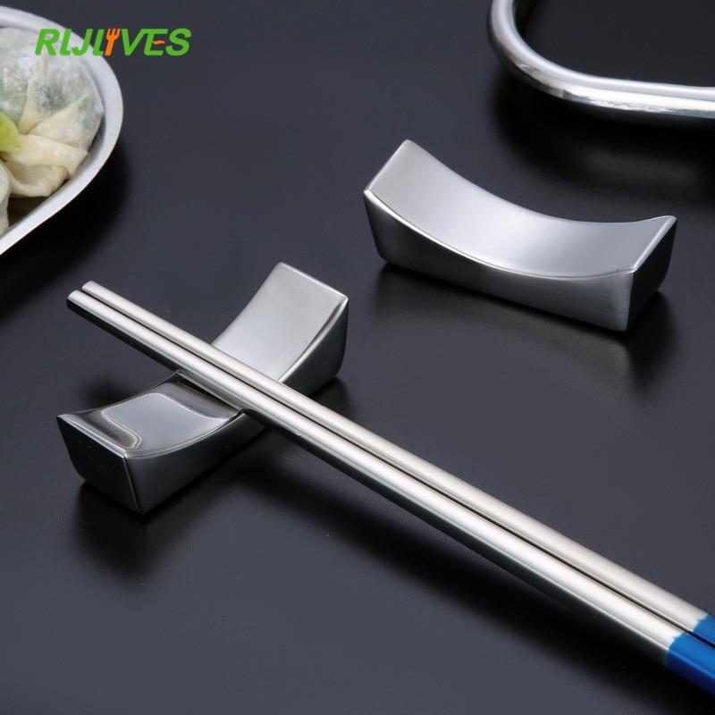 304 Edelstahl Stäbchen Halter Lagerung Rack Stehen hashi Chop Sticks Stäbchen Chinesischen Stil Geschenk Küche Geschirr Werkzeuge
