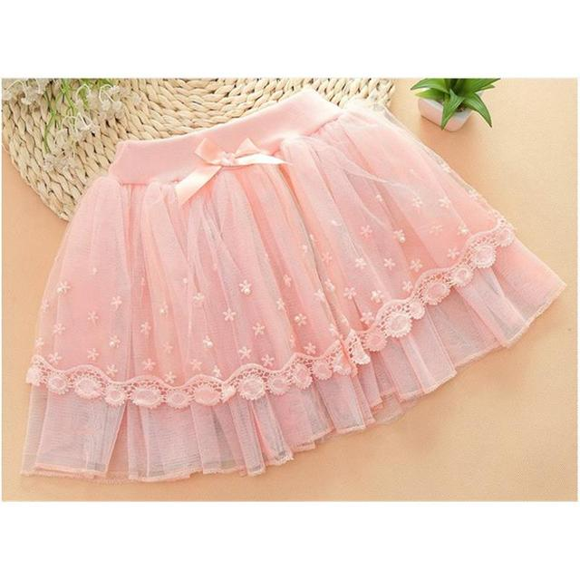 2016 Time-limited Hot Sale Girls Skirts Etek 2016cotton Lace+net Girls Fluffy Tutu Princess Party Skirt Kids Skirts Clothes