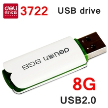 [ReadStar]Deli 3722-3723 USB2.0 Flash dive 4G 8G 16G metal case rotate type USB drive U-disc retail gift packing shipping free