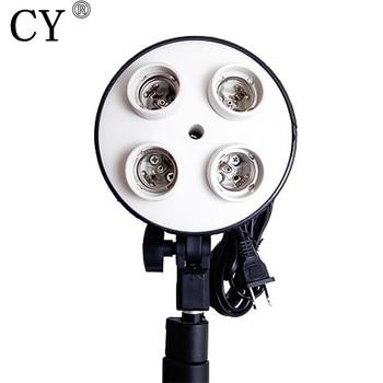 Высокое Качество Фотостудия E27 четыре гнездо держателя лампы дневного света лампы держатель аксессуары для фотостудии >> Lightupfoto Store