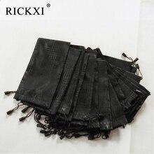 100 pcs/lot Glasses Case Soft Waterproof Plaid Cloth Sunglasses Bag Glasses Pouch Black Color