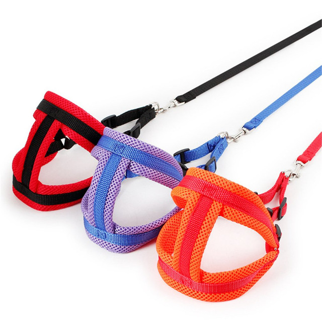 1pc Soft Air Mesh Harness Dog Puppy Comfort Collars Dog Net Cloth Chest Straps Vest Dog Cat Vest Harness Pet Leash 3 Sizes