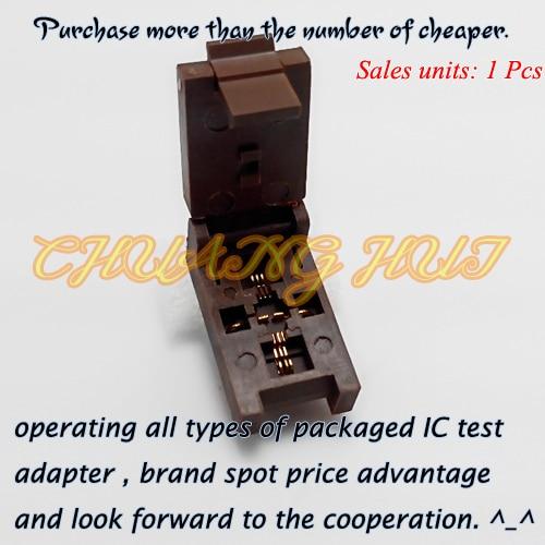 ФОТО DFN8 Test Socket WSON8 MLF8 QFN8 Socket(Flip test seat) Pitch=0.5mm Size=5x2mm