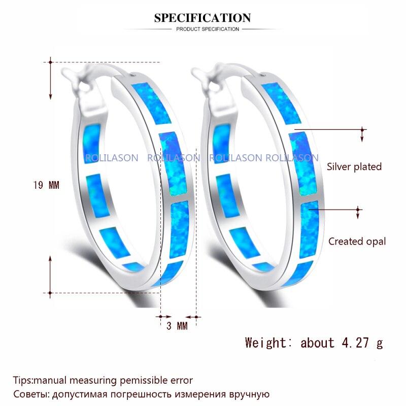 brincos engros super leverandør nye blå brand opal sølv stemplet - Mode smykker - Foto 2