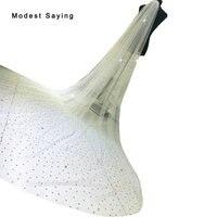 Luxury Ivory 3M Beaded Cathedral Wedding Veils 2017 Bridal Veils Wedding Accessories veu de noiva longo com renda 3 metros YV33