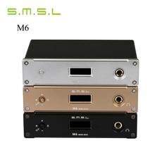 2016 SMSL M6 HIFI Audio Decoder Amplificador de Auriculares 32Bit/384 KHz Asíncrono DAC USB AMPLIFICADOR de Audio Multifunción Caja De Aluminio