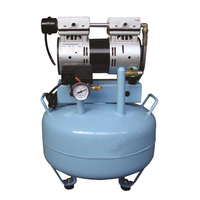 Dental lab equipment silent air compressor oilless portable compressor with 30L Automatic Overheat Protector