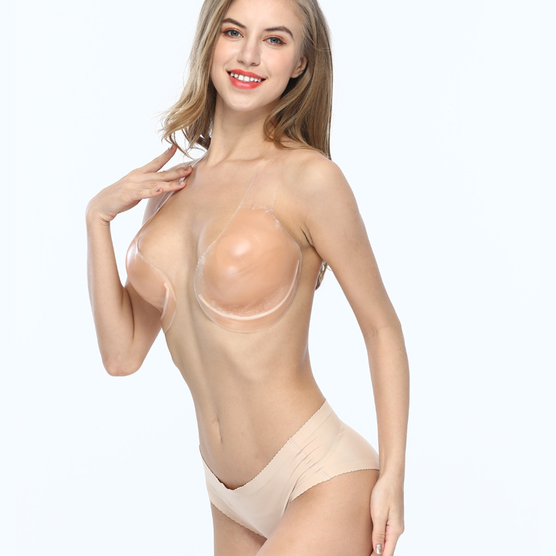 Adhesive Invisible Bra Strapless Backless Bra Breast Lift Cover Bra Rabbit Pasties Silicone Lift for Women