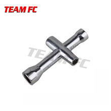 2PCS 7mm 5.5mm 4mm 5mm Cross Wrench Hex Socket Reparatie tools voor 1/10 HSP Tamiya HPI Kyosho RC Auto Crawler D90 SCX10 S66(China)