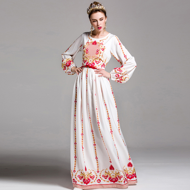 13e37ac9cd Luksusowe nowość sukienki moda długim rękawem latarnia topshop kwiaty druku  wiosna lato high street maxi pas