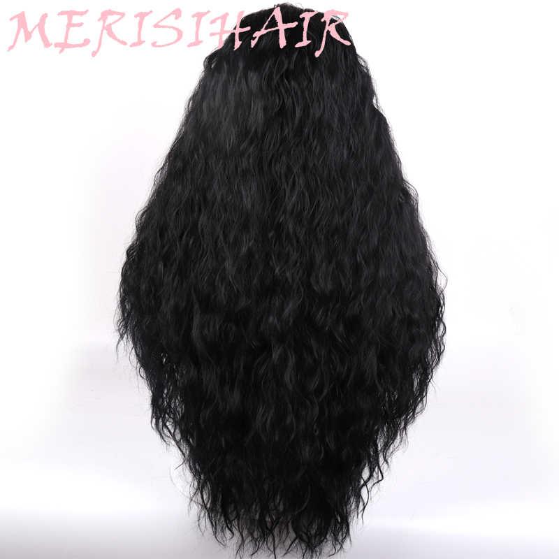 """Меризи волос 21 """"Длинные рябь волосы синтетический парик черный натуральный Ombre Для женщин ежедневно красный оранжевый парик высокого Температура волокно"""