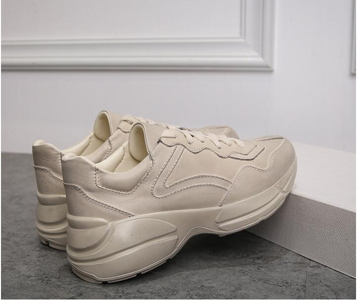 2018 Plein Véritable Décontracté Air Cuir Picture Blanc As Chaussures Lacets Plateforme Hautes À Mode En old Style Appartements Femme r8A4wrgq