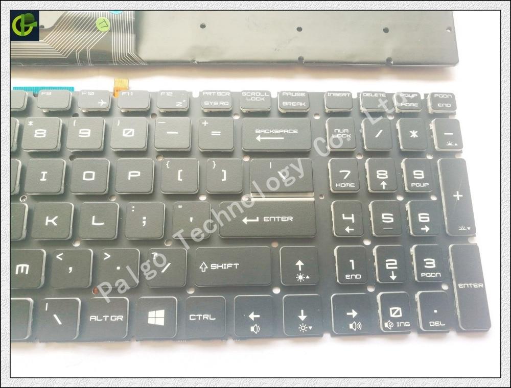 Image 4 - New English Crystal Backlit Keyboard for MSI GP72 WS60 PE72 GS72  GP62VR GE62V GT73VR GS73VR CX62 GT72VR GT83VR GL627RDX  USkeyboard for  msikeyboard msimsi keyboard