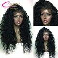 Девы Человеческих Волос Волна Воды Бразильские Волосы Полный Парик Шнурка Вьющиеся человеческих Волос Glueless Кружева Передние Парики Для Чернокожих Женщин Волосы Ребенка