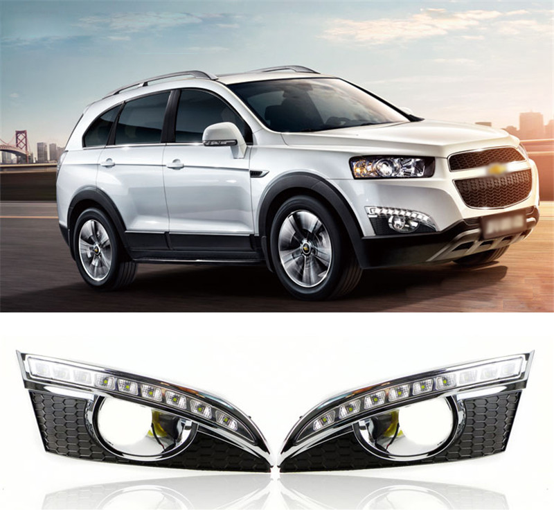 12V Car White LED DRL Daytime Running Light Fog Lamp Cover With Yellow Turn Signal For Chevrolet Chevy Captiva 2011 2012 2013 ultrasonic pocket fetal doppler angelsounds fetal doppler jpd 100s 3mhz baby heart monitor fhr new lcd display