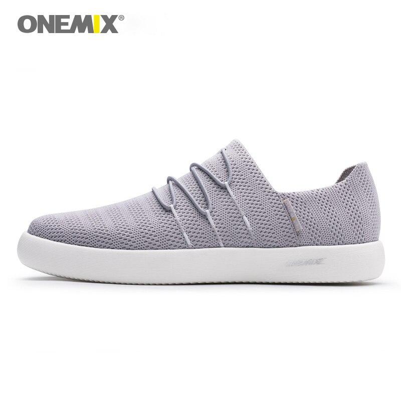 ONEMIX 2018 для мужчин slip-on обувь мягкий дезодорант стелька влаги поглощающий свет обувь для женщин кроссовки-вездеходы для прогулок на открытом...