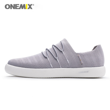 ONEMIX 2018 men slip-on shoes soft deodorant insole moisture absorption light shoes women all-match sneakers for outdoor walking