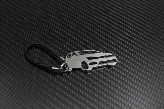 Porte-clés en acier inoxydable   Adapté aux VW Golf, porte-clés pendentif de sac, chaîne