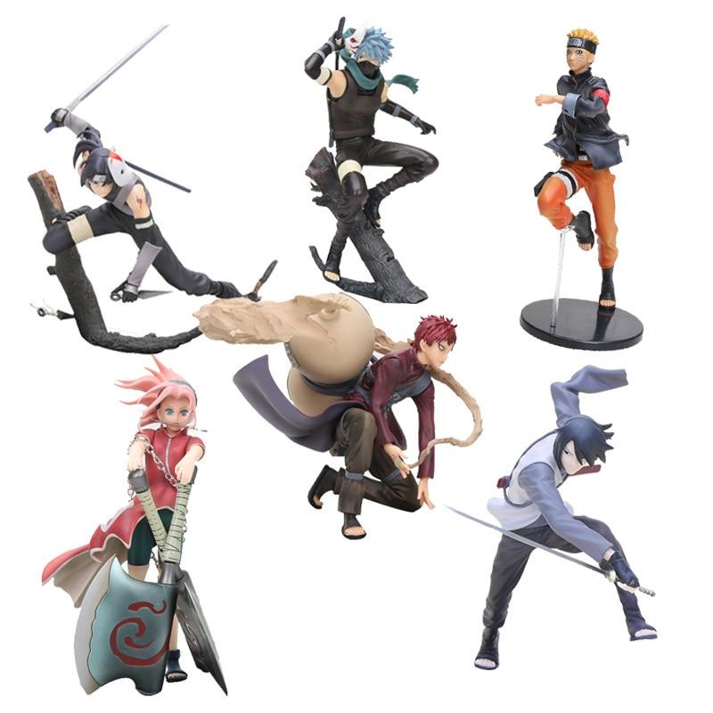 GEM Anime Naruto Figure Toys Hatake Kakashi  Naruto Itachi Sasuke Gaara Model Figurines PVC Action Figure Collectible Toys