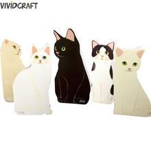 Творческий прекрасный кот поздравительная открытка 3d приглашения благословение фестиваль День рождения открытка милый кот дизайн карты 1 шт случайный цвет