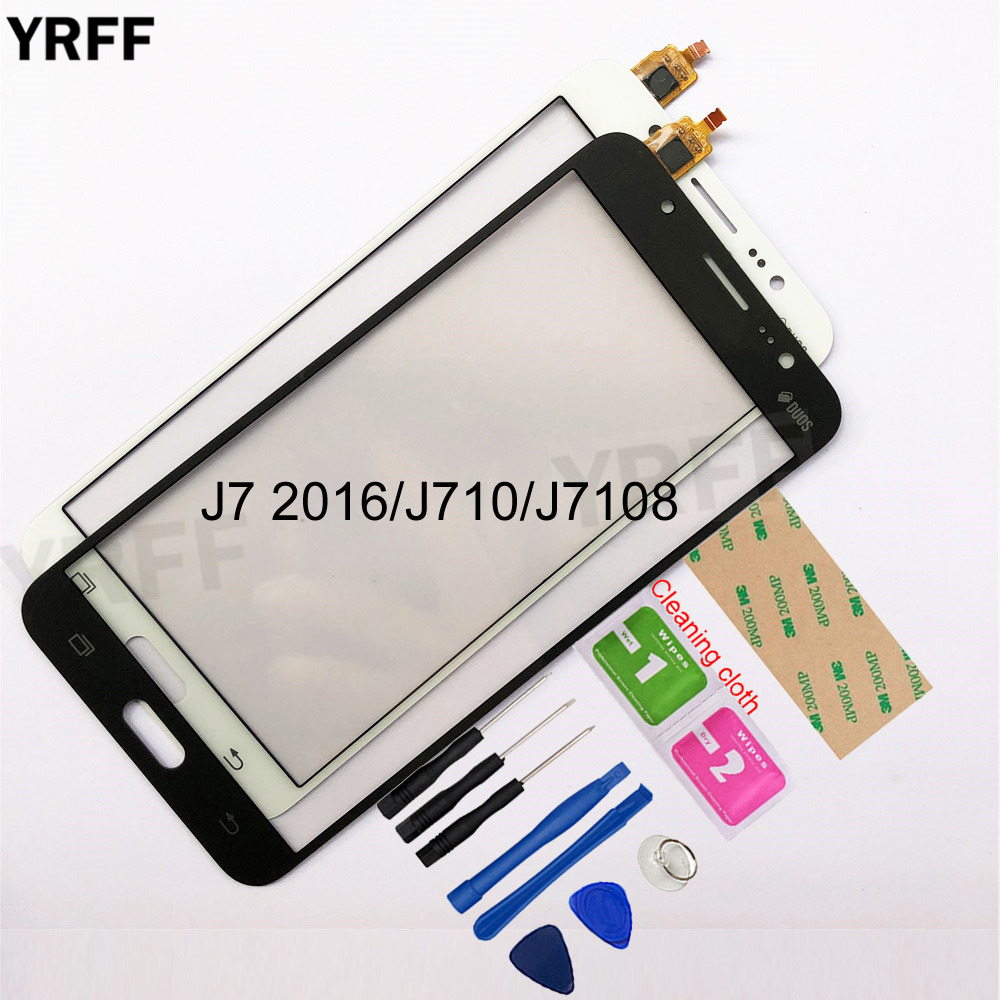 5.5''  For Samsung Galaxy J7 2016 J710 J7108 Touch Screen Digitizer Sensor Touch Glass Lens Panel