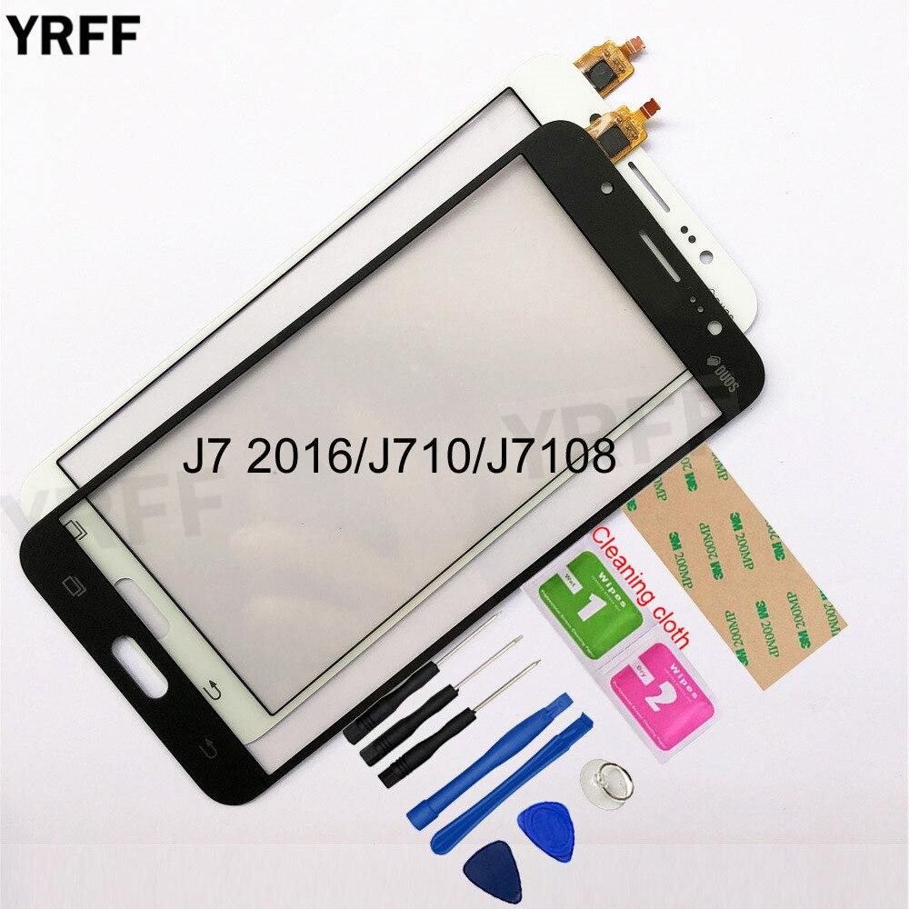 5.5''  For Samsung Galaxy J7 2016 J710 J7108 Touch Screen Digitizer Sensor Touch Glass Lens Panel