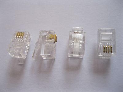 500 pcs 4P4C Modular Plug Telephone Connector