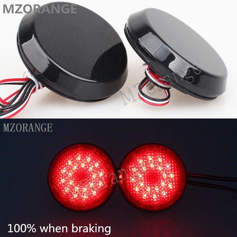 MZORANGE 2Pcs LED Parking Warning Bumper Lamp DC12V Rear Bumper Reflector Tail Brake Light For Nissan/Qashqai/For Toyota/Corolla new for toyota altis corolla 2014 led rear bumper light brake light reflector novel design top quality fast shipping