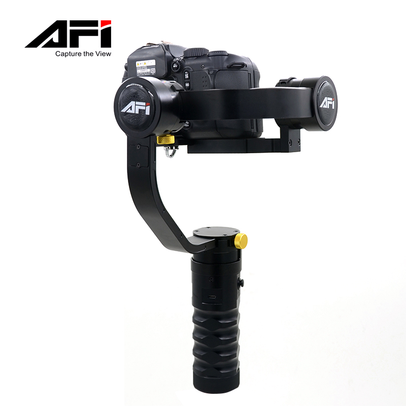 AFI VS-3SD 355 degree Free Rotation Handheld 3-Axis Brushless Handheld Steady Gimbal Stabilizer for DSLR Cameras afi vs 3sd handheld 3 axle brushless handheld steady gimbal stabilizer for canon 5d 6d 7d for sony for gh4 dslr