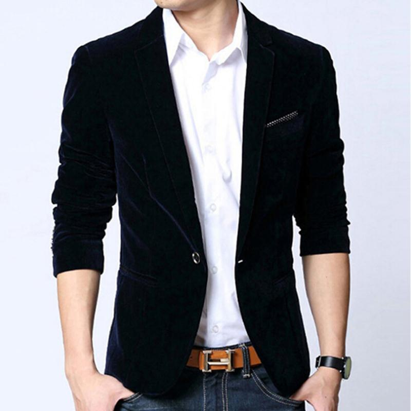 Online Get Cheap Mens Slim Fit Black Blazer -Aliexpress.com