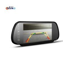 7″ TFT HD LCD Color Screen 7 inch Car Rearview Mirror Monitor connect to backup Camera / DVD With 2 Video Input DC 12V PAL/NTSC
