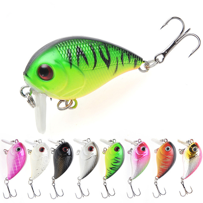 1 Pcs 4.5cm / 7.2g Swim Fish Artificial Rock Fishing Bait Hard Crank Bait Topwater Wobbler Japan Mini Fishing Crankbait Lure