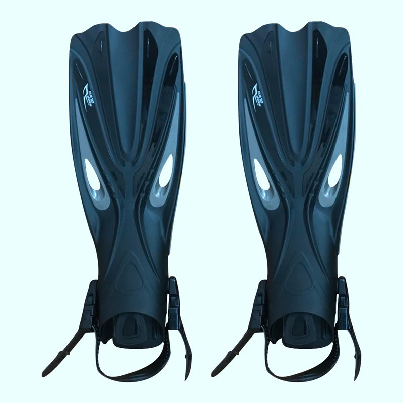 KEEP DIVING Open Heel Scuba Diving Long Fins Adjustable Snorkeling Swim Flippers Special For Diving Boots Shoes Gear(XL)