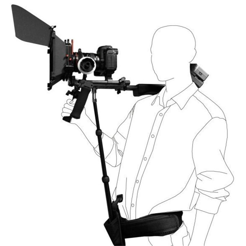 DSLR Rig Support Rod/ Belt fit Shoulder Mount Video Camcorder Camera DV/DSLR New Action Camera Accessories new dslr rig support rod belt fit shoulder mount video camcorder camera dv dslr with tracking number