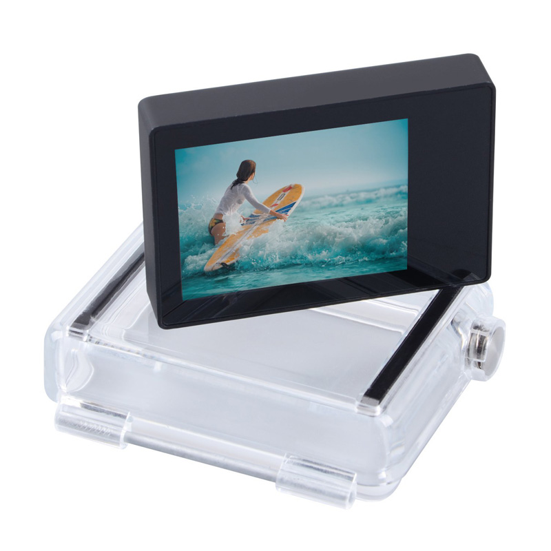 Accessories For GoPro Lcd Screen Non-Touch BacPac Lcd display monitor +Expanded Backdoor Cove For GoPro Hero 4 3+ 3 Black Camera back lcd touch screen display for gopro hero 5 black repair gopro 6 lcd display screen hero 5