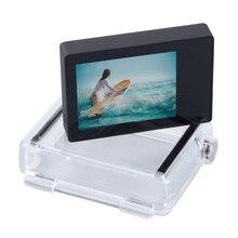 Tela lcd de gopro, acessórios para gopro, monitor de tela lcd sem toque + capa traseira expandida para gopro hero 4 3 + 3 câmera preta