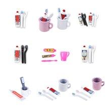 1 Набор 1:12 кукольный домик миниатюрная мини зубная паста зубная щетка кухонная мебель игрушка коллекционный подарок миниатюрные игрушки