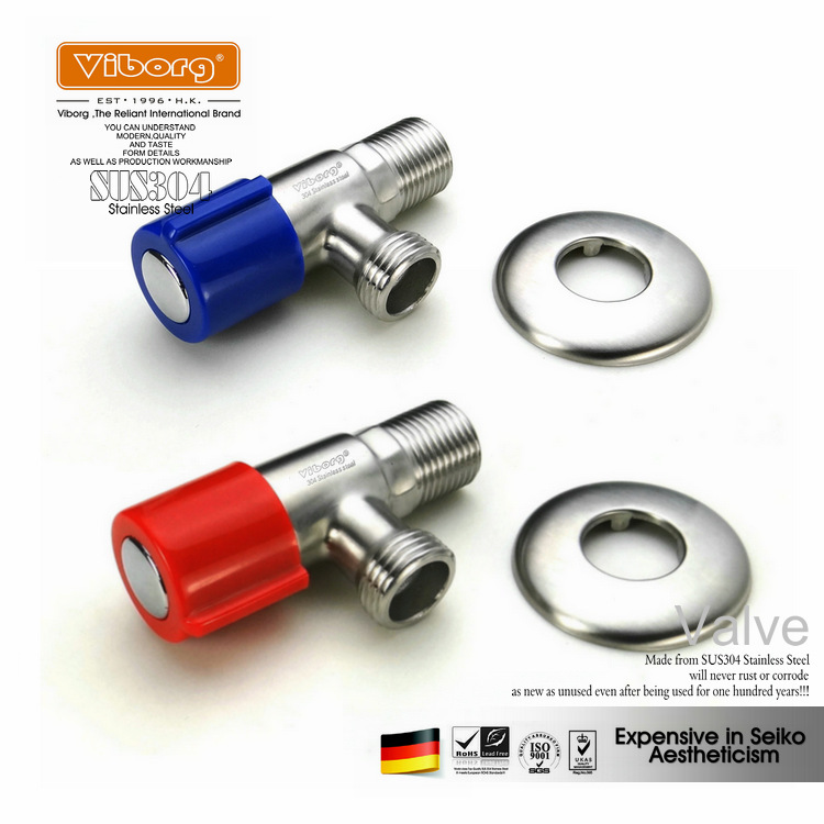 (1 pair) VIBORG SUS304 Stainless Steel Casting Lead-free Angle Valve Angle Stop Valves, KS-A08 free shipping viborg ve511 vf511 one pair 99 998