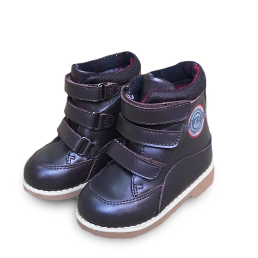 Good quality 1 pair for Orthopedic Shoes winter Warm Children Genuine Leather Boot girl/ Boy kid shoes good quality 1pair orthopedic shoes girl genuine leather shoes inner 15 19cm children sneakers sports