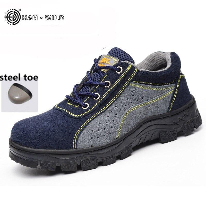 2018 Frühling Arbeit Stiefel Männer Stahl Kappe Wildleder Leder Atmungsaktiv Casual Schuhe Arbeit Versicherung Sicherheit Schuhe Modische Und Attraktive Pakete